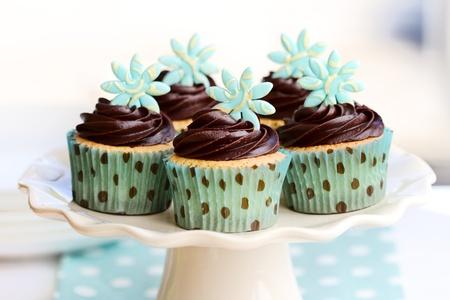 ミントチョコレートのカップケーキ