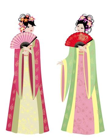 中国の少女二人