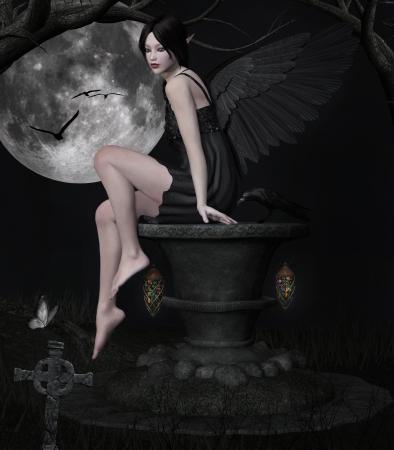 真夜中の黒い天使