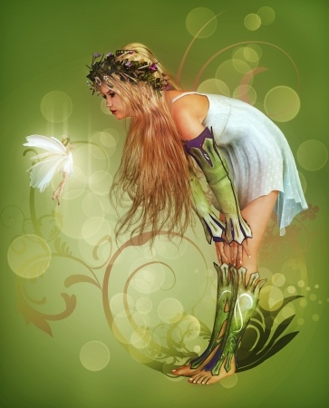 少女と妖精の会話