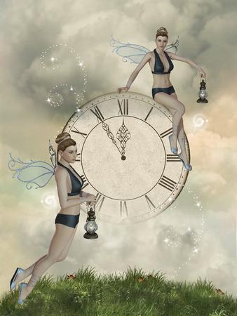 神秘の時計と妖精