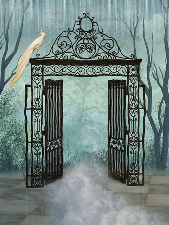幻想的な門