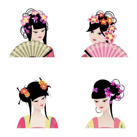 古代中国の女性イラスト