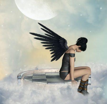 黒い翼の天使