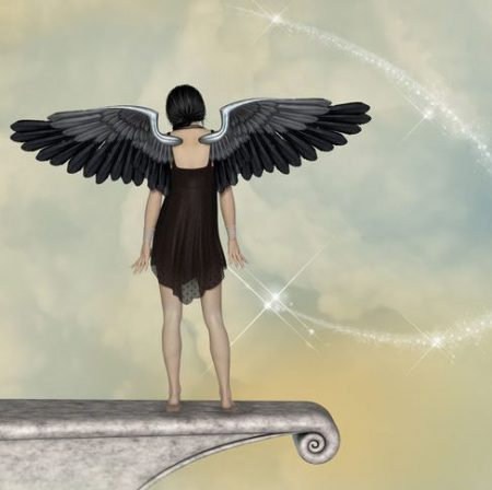 天使の後ろ姿