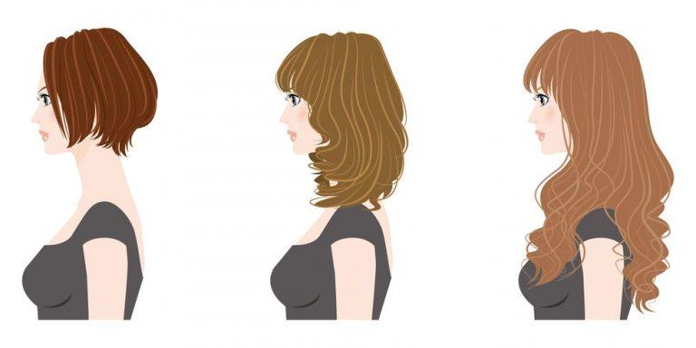 女性のヘアスタイルイラスト