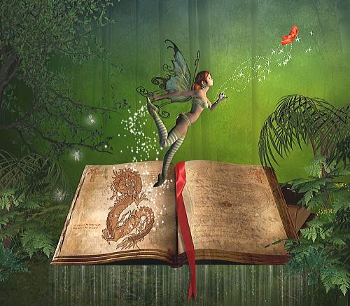 本から飛び出す妖精