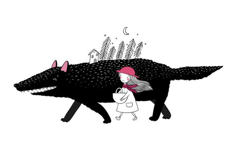 少女と妖精の友だち
