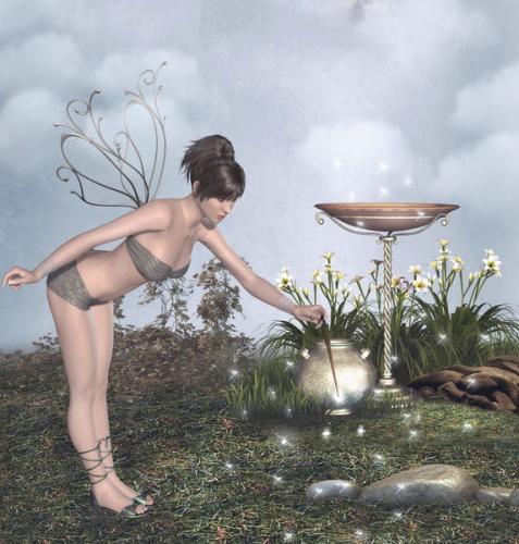 光と遊ぶ妖精