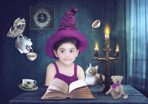 魔法の家と少女