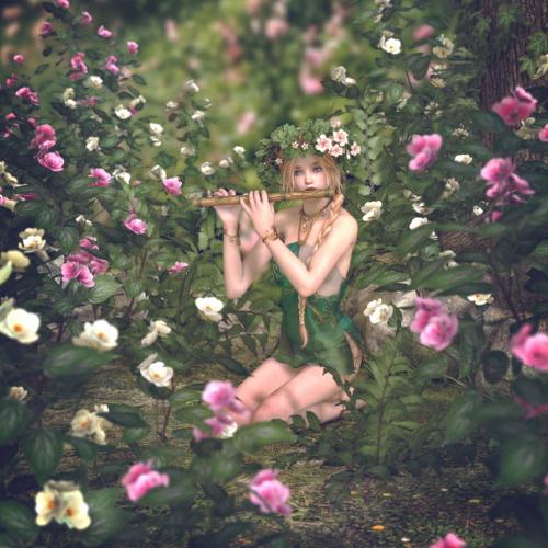 花の中の妖精