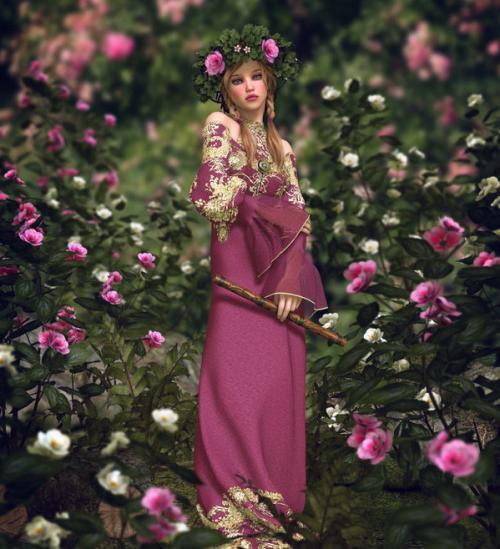 花の中にいる妖精