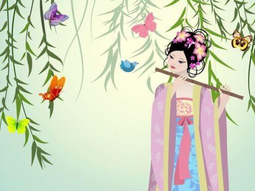 古代中国の少女