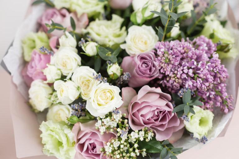 藤色の花束