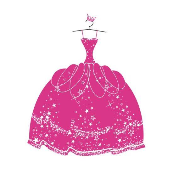 ピンクのドレスイラスト