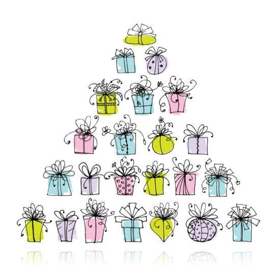 プレゼントのピラミッド